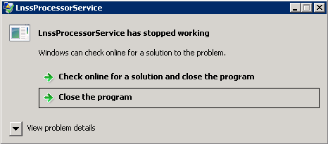 LnssProcessorService error message